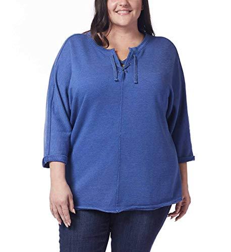 Jag Jeans Damen Plus Size Debbie Lace up Sweatshirt, Spiced Cider, 2X