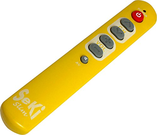 Seki Slim - Telecomando universale, colore: Arancio/Giallo