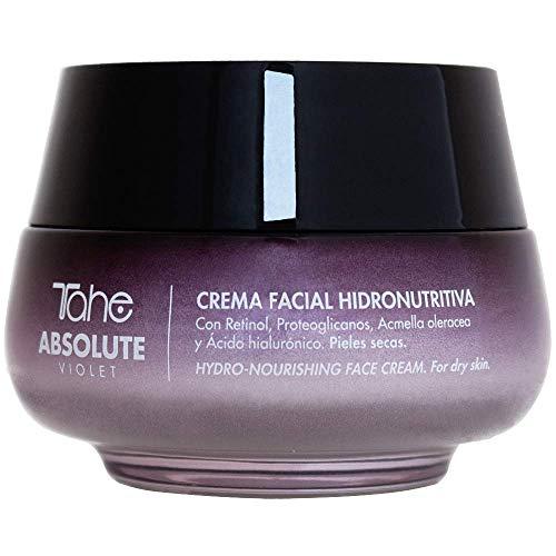 Tahe Absolute Violet Crema Facial Hidronutritiva Anti-arrugas para combatir Manchas Flacidez y Falta de Firmeza con Retinol y Ácido Hialurónico para Pieles Secas, 50 ml