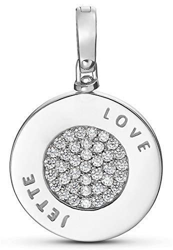 JETTE Silver Damen-Charm 925er Silber 38 Zirkonia One Size 87603288