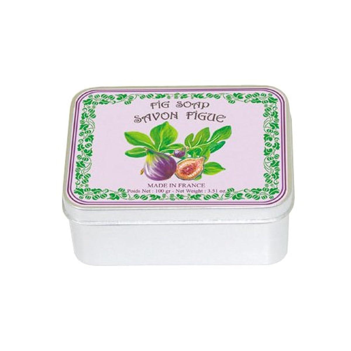 サンプル廃止する体操ルブランソープ メタルボックス(イチジクの香り)石鹸