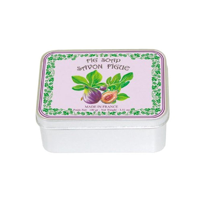 収まるぼかし扱うルブランソープ メタルボックス(イチジクの香り)石鹸