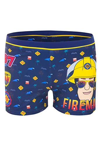Feuerwehrmann-Sam Badehose Badeshorts Badepants, Größe:98 (3 A), Farbe:Dunkel-Blau