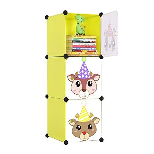 FANJIANI boekenkast voor kinderen, met vrije combinatie voor deur, kast, Locker Shelf