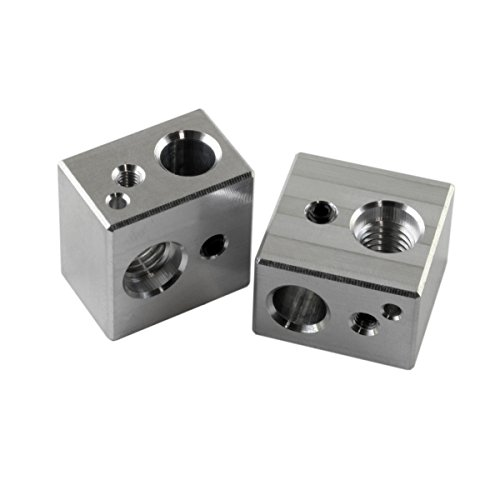 [Gulfcoast Robotics] 2 PCS MK10 Extruder Hotend Heater Block fits MP Maker Select Duplicator i3 3D Printer - Made by US company with quality and precision.