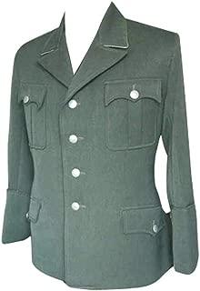 militaryharbor WW2 WWII German Elite M34 Officer Fieldgrey Gabardine Jacket Dress Tunic