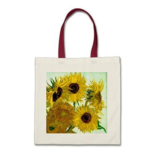 Vaas met Twaalf Zonnebloemen Van Gogh Fine Art Tas