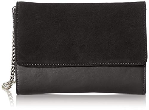 PIECES Damen Pchilda Leather Cross Body Umhängetasche, Schwarz (Black), 4x16x21 cm