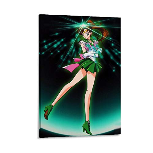 DRAGON VINES Kino Makoto Sailor Júpiter Sailor Moon Anime Lienzo decorativo para pared para cocina, sala de estar, comedor, dormitorio, hogar, oficina, escaleras, decoración de 20 x 30 cm