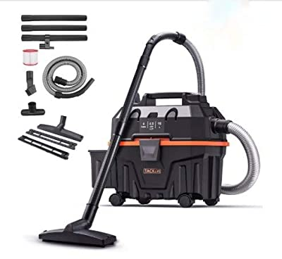 Wet Dry Vacuum, TACKLIFE 4.5 Gallon 6 Peak Hp Bagless Wet and Dry Vacuum, Wet Suction/Dry Suction/Blowing 3 in 1, Suitable for Indoor and Outdoor Use, PVC01B