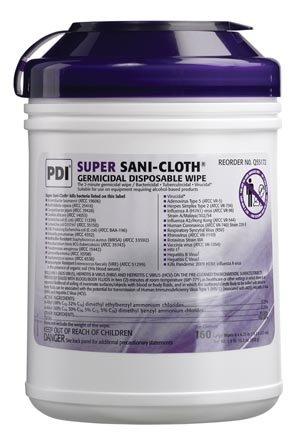 PDI Q55172 Pdi Super Sani-Cloth Germicidal Disposable Wipe ,160 Per Canister