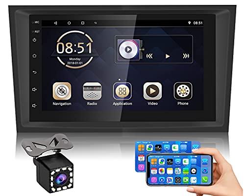 Hikity Android Autoradio per Opel Astra Corsa Vectra, Autoradio Bluetooth con GPS Navigazione 7' Autoradio 1080P con Touchscreen Supporto Collegamento allo Specchio+WiFi+ 12 LED Telecamera posteriore