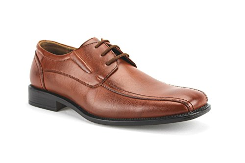 Delli Aldo M-18529 Mens Lace Up Classic Dress Oxfords Shoes w/Leather Lining, Brown, 9