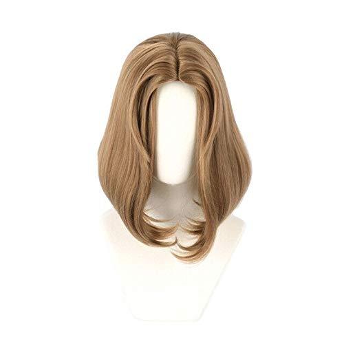 PWEINCY Bloody Queen Mary Bloodbath Cosplay peluca marrn para mujer disfraz de Halloween