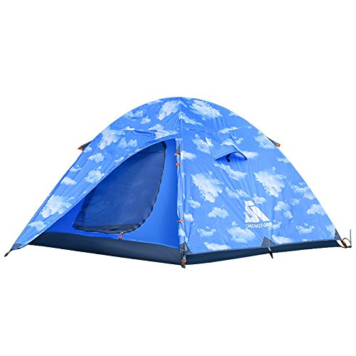 Why Should You Buy Kids Play Tunnels Mountaineering Tents 2-3 People Double Aluminum Pole Tent Windp...