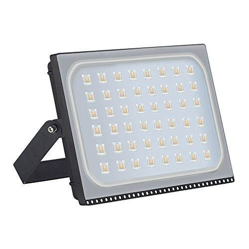 Yuanline Proyector LED para exteriores, reflector IP67, diseño ultradelgado y ultraligero 300W Blanco Cálido