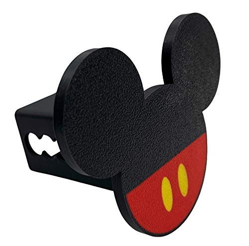 """Mickey Mouse Cookie Trailer Hitch Cover, Plastic Fits 2"""" Receiver"""