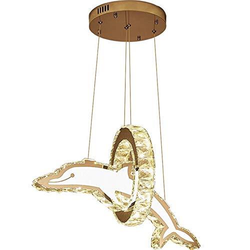 * Creatieve persoonlijkheid Dolphin kinderkamer, led-lamp, kristal, geboortesteen voor ramen, kroonluchter, A, eenheidsmaat.