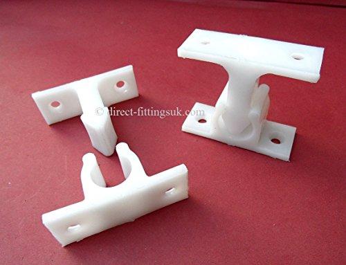 4topes para puerta para caravanas y autocaravanas estáticas o móviles, Freno retenedor, Blanco opaco