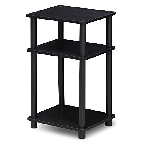 Furinno End Tables, Wood, Americano/Black, one size