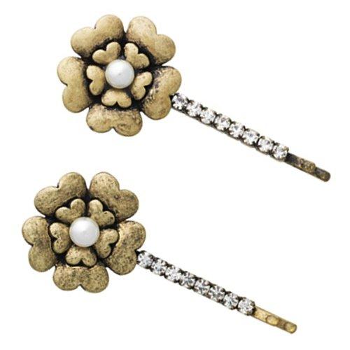 Lisbeth Dahl Set de barrettes cheveux Lovely Flower Pearl