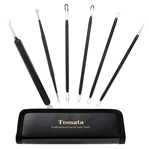 Blackhead Remover Pimple Popper Tool Kit – (6 Piece Kit) – Professional Stainless Pimples Comedone Extractor Removal Tool