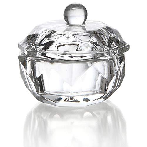 Gaetooely 2 Stücke Glas Dappen Teller Deckel Schüssel Getr?nke Halter Maniküre Ausrüstung Nagel Werkzeug Für Nagel Kunst Acryl Pulver Flüssigkeit
