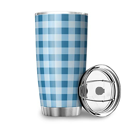 Taza de café de acero inoxidable con aislamiento al vacío con tapa de acero inoxidable, color blanco, 600 ml