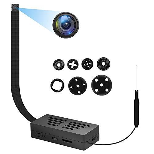 Mini Camara Espia WiFi 1080P DIY Cámaras Oculta IP Vigilancia Portátil Secreta Compacta con Detector de Movimiento, WLAN Camaras de Seguridad Pequeña(2.4Ghz)