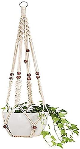 Kucus Macrame Flower Pot Planter Max Bargain sale 67% OFF with Holder Basket Rope Hanging