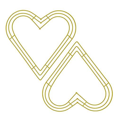 æ— 2 piezas marcos de corona de metal en forma de corazón para manualidades florales y hacer coronas de flores para hogar, bodas, decoración de fiesta de San Valentín