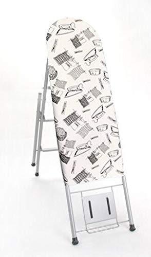 woyaochudan Tabla de Planchar de Doble Uso Escalera Plegable para el hogar Rejilla de Planchado Mesa de Planchado Tabla de Planchar eléctrica multifunción (Color: B)