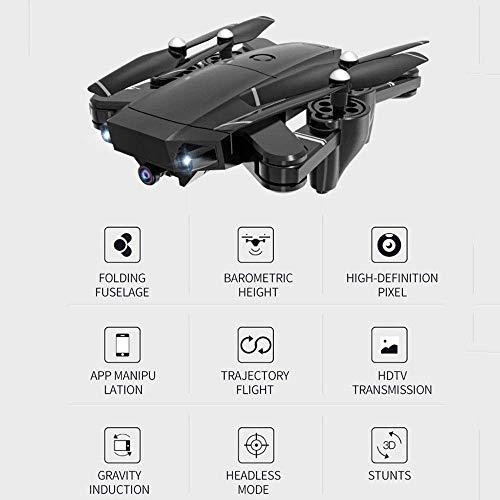 L.TSA Drone Drohnen mit Kamera 5MP 1080P Weitwinkel WiFi FPV HD EIN-Knopf-Start Kopflos-Modus Faltbarer optischer Fluss Fixpunkt Fernflugzeug
