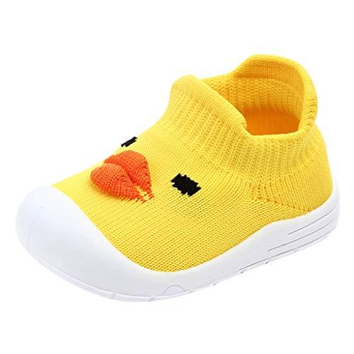 Alwayswin Unisex-Baby Outdoor Kleinkindschuhe Mode Slip-On Kinderschuhe Jungen Mädchen Cartoon Ente Weich Sportschuhe Süß Mesh Flache Schuhe Einzelne Schuhe Bequem rutschfest Babyschuhe