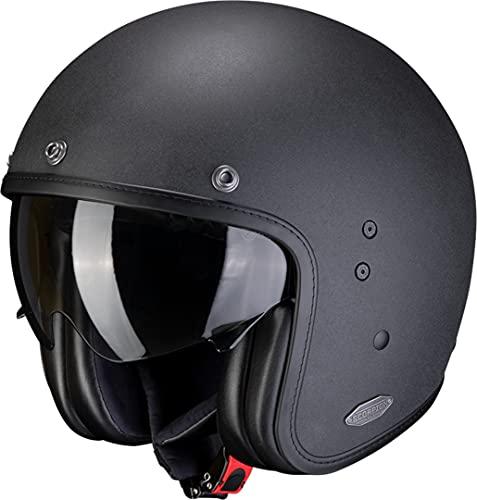 Scorpion BELFAST SOLID Motorrad Jethelm - matt schwarz Größe 2XL