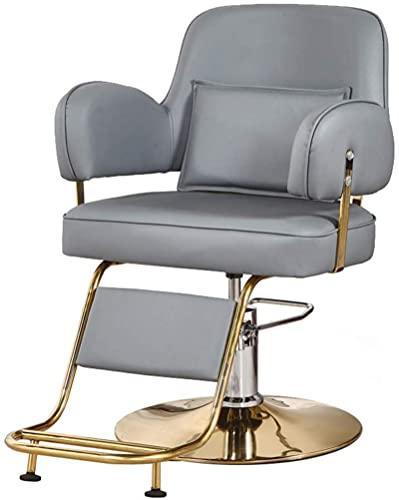HZYDD Barhocker, hydraulischer Friseurstuhl, 360 Grad drehbar, breiter Styling-Stuhl, Allzweck-Beauty-Ausrüstung mit Fußstütze, Grau 1 (Farbe: Grau 2) (Farbe: Blau 2)