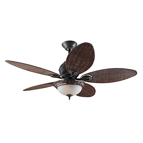 Hunter Fan 24457 Caribbean Breeze - Ventilador de techo con luz bronce curtido