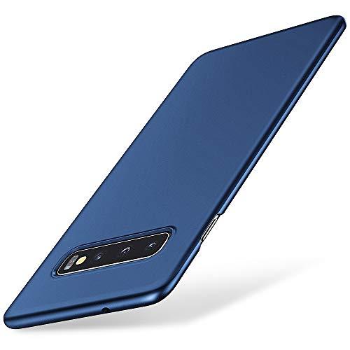 EIISSION Funda Compatible con Samsung Galaxy S10, Fundas para Samsung Galaxy S10 Carcasa ToughShell Funda táctil Funda Mate Funda Duro y Flexible Carcasa para Samsung Galaxy S10- Azul Oscuro