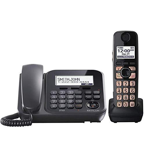 SHKUU TeléFono BotóN Vintage TeléFono InaláMbrico Digital Expansible, TeléFono Fijo Oficina En Casa, Llamadas Manos Libres Bienvenido (Color: B)