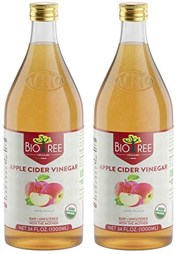 Biotree Organic Raw Apple Cider Vinegar Unfiltered with The Mother 2 x 1L