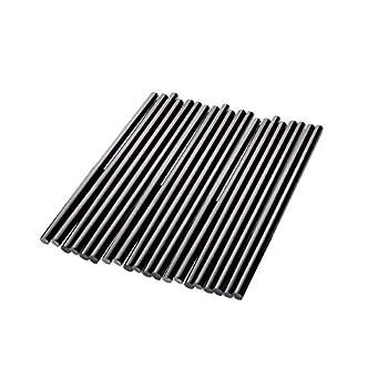 Black Hot Melt Glue Stick Strips Baffo 20 Pcs High Adhesive Hot Glue Gun Sticks for Car Audio DIY Art Craft Home Office Project Craftwork Fix & Repairs Diameter 0.28 inch Length 7.87 inch