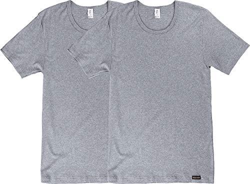 CiTO Herren-Unterhemd, 1/2-Arm 2er-Pack Silber Größe 8