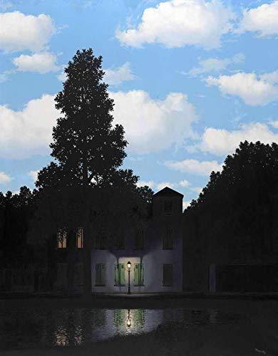 O Império das Luzes (1954) de René Magritte - 30x38 - Tela Canvas Para Quadro