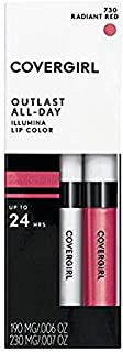 COVERGIRL Outlast Illumia All-Day Moisturizing Lip Color, Radiant Red 13 oz (4. 2 g)