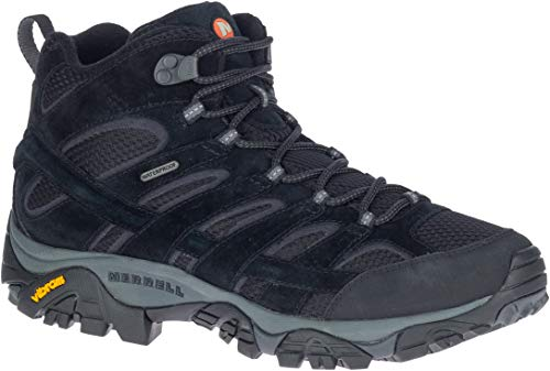 Merrell Men's Moab 2 Mid Waterproof Black Night Hiking Boot 8 M US