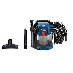 Bosch Professional 18V System Akku Staubsauger GAS 18V-10 L (ohne Akkus und Ladegerät, mit Flachfaltenfilter, Bodendüse, Fugendüse, 1,6 m Schlauch, Volumenstrom bis zu 24 l/sec (Turbine))
