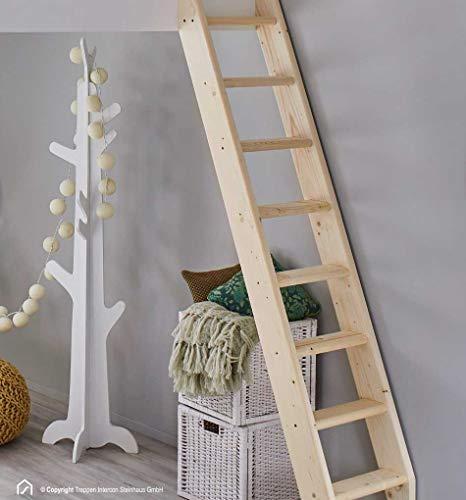 Intercon® Hochbettleiter SAFE STEP | Fichte Massivholz | 6 Stufen 145 cm | 8 Stufen 190 cm | 10 Stufen 240 cm | 12 Stufen 260 cm