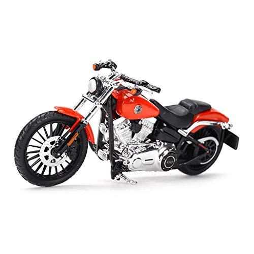 JIALI Auto-Modell kompatibel mit Harley Davidson-Legierung Modell Druckguss Modell Motorrad Modell 1/18 Dekoration...