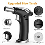 Blow Torch, Kitchen Torch Lighter with Safety Lock, Refillable Butane Gas Adjustable Flame Cooking Torch for, Brulee… 4