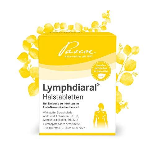 Pascoe® Lymphdiaral Halstabletten: fürs Lymphsystem - bei Neigung zu Infekten von Hals, Nase & Rachen - mit Sonnenhut (Echinacea) & der Knotigen Braunwurz (Scrophularia nodosa) - 100 Tabl.